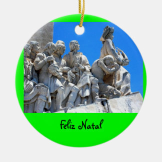 Ornamento del navidad de Discoveries* del Adorno Redondo De Cerámica