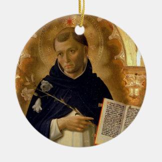 Ornamento del navidad de Dominic* del santo Adorno Navideño Redondo De Cerámica