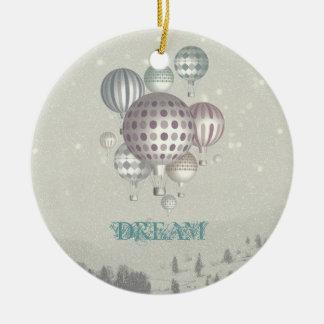 Ornamento del navidad de Dreamflight del invierno Adorno Navideño Redondo De Cerámica