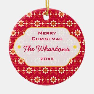 Ornamento del navidad de Edelweiss Adorno Para Reyes