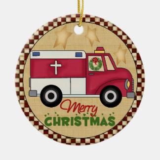 Ornamento del navidad de EMT Adorno Navideño Redondo De Cerámica