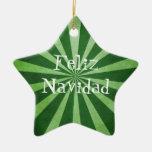 Ornamento del navidad de Feliz Navidad de la Adorno De Cerámica En Forma De Estrella