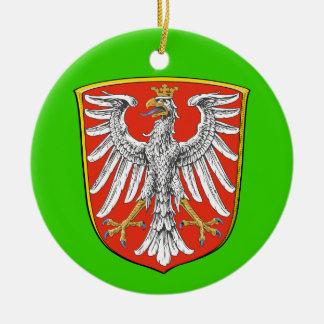 Ornamento del navidad de Frankfurt* Adorno Navideño Redondo De Cerámica