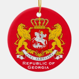 Ornamento del navidad de Georgia Republic* Adorno Navideño Redondo De Cerámica