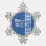 Ornamento del navidad de GRECIA Adorno
