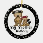 Ornamento del navidad de hermano mayor del pirata ornamentos para reyes magos