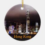 Ornamento del navidad de Hong Kong Adorno Navideño Redondo De Cerámica