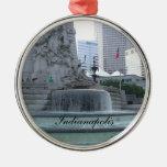 Ornamento del navidad de Indianapolis Adorno Navideño Redondo De Metal