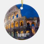 Ornamento del navidad de Italia - de Roma Adorno Navideño Redondo De Cerámica