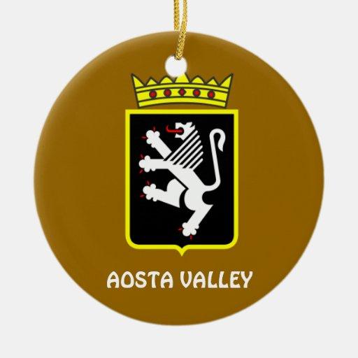 Ornamento del navidad de Italia del valle de Adorno Navideño Redondo De Cerámica