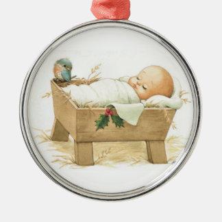Ornamento del navidad de Jesús del bebé Ornamento De Navidad