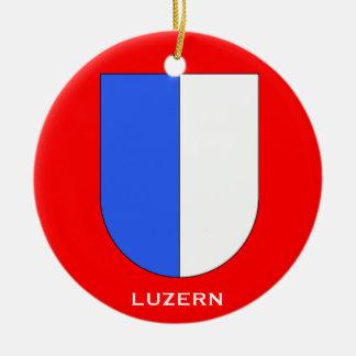 Ornamento del navidad de Kanton Lucerne* Adorno Redondo De Cerámica