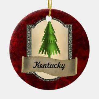Ornamento del navidad de Kentucky Adorno Navideño Redondo De Cerámica
