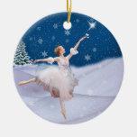 Ornamento del navidad de la bailarina de la reina  adorno