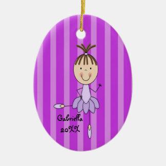 Ornamento del navidad de la bailarina ornamento para arbol de navidad