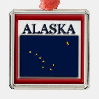 Ornamento del navidad de la bandera del estado de adorno