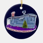 Ornamento del navidad de la basura del remolque ornamento para arbol de navidad