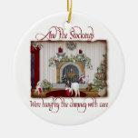 Ornamento del navidad de la cabra del vintage ornatos