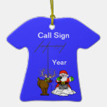 Ornamento del navidad de la camiseta del equipo de ornaments para arbol de navidad