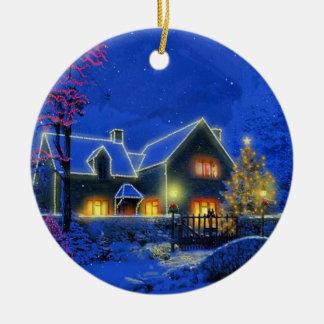 Ornamento del navidad de la casa de Lite del Adorno De Reyes