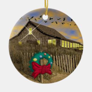 Ornamento del navidad de la casa de playa adorno para reyes