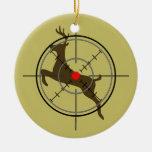 Ornamento del navidad de la caza de los ciervos ornato