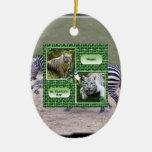 Ornamento del navidad de la cebra adornos