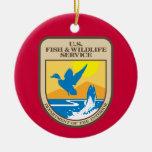 Ornamento del navidad de la dirección de pesca y f ornamentos de navidad