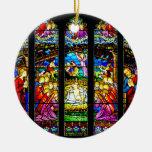 Ornamento del navidad de la escena de la natividad