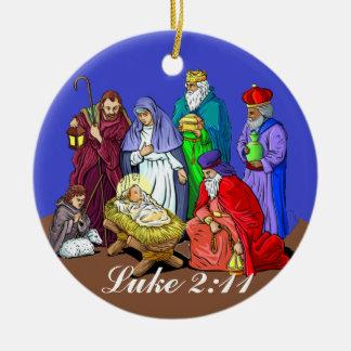 Ornamento del navidad de la escena de la natividad adornos de navidad