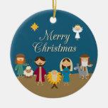 Ornamento del navidad de la escena de la natividad ornamentos de reyes magos