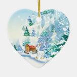 Ornamento del navidad de la escena del invierno adorno para reyes