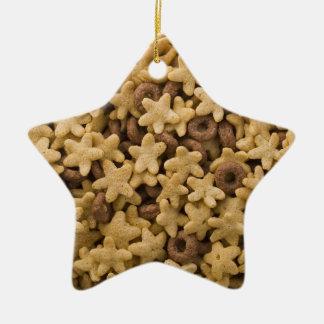 Ornamento del navidad de la estrella del cereal adorno