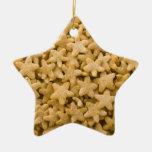 Ornamento del navidad de la estrella del cereal ornato