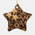 Ornamento del navidad de la estrella del cereal adornos