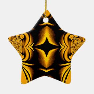 Ornamento del navidad de la estrella del oro adorno navideño de cerámica en forma de estrella