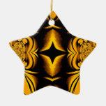 Ornamento del navidad de la estrella del oro ornamentos para reyes magos