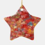 Ornamento del navidad de la estrella en amarillo r ornamentos para reyes magos