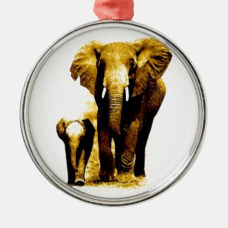 Ornamento del navidad de la familia del elefante ornatos