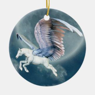 ornamento del navidad de la fantasía adorno redondo de cerámica