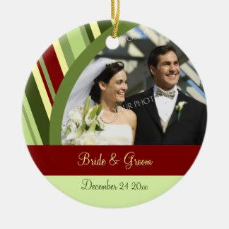 Ornamento del navidad de la foto del boda adorno de navidad
