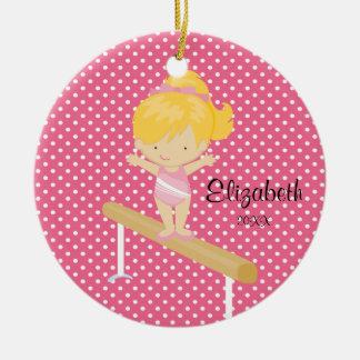 Ornamento del navidad de la gimnasia del chica de  adornos de navidad
