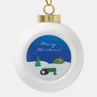 Ornamento del navidad de la granja adorno de cerámica en forma de bola