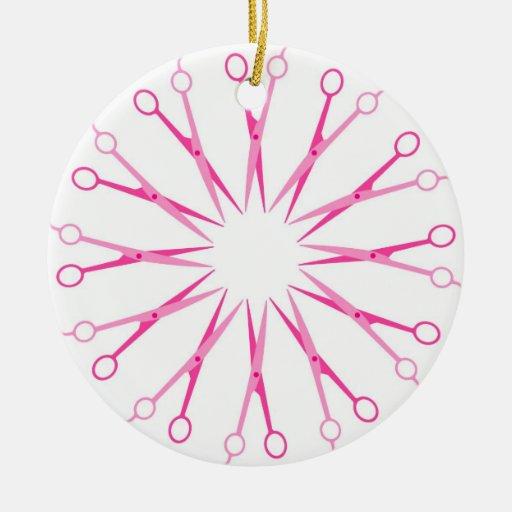Ornamento del navidad de la guirnalda de los adorno navideño redondo de cerámica