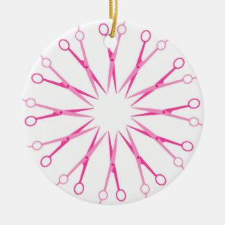 Ornamento del navidad de la guirnalda de los adorno redondo de cerámica