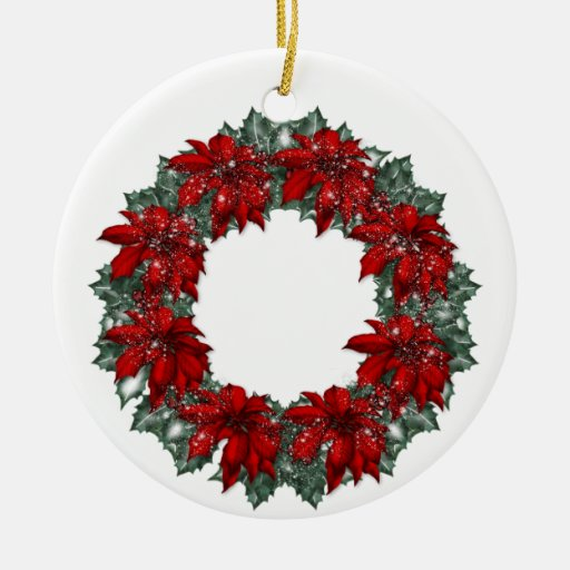 Ornamento del navidad de la guirnalda del adorno navideño redondo de cerámica