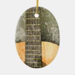 Ornamento del navidad de la guitarra ornamentos de navidad