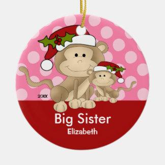 Ornamento del navidad de la hermana grande del adorno redondo de cerámica