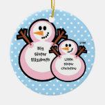 Ornamento del navidad de la hermana grande del muñ ornamentos de reyes magos