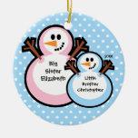 Ornamento del navidad de la hermana grande del muñ ornamento de navidad